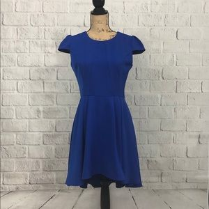 ina fit and flare cobalt blue dress